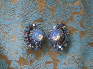 オパール&オーロラ色のイヤリング(S7378)