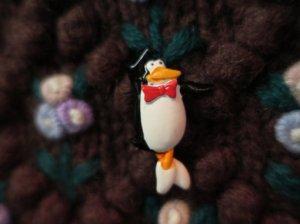 JJ 1960年代 エナメル ペンギンのプリンシパルのブローチ(S8315-1)