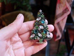 チェコ 小さな緑色のクリスマスツリー(S8534-4)