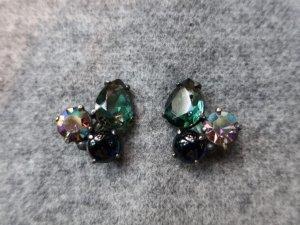 Elsa Schiaparell グリーングラスのイヤリング(S8493)