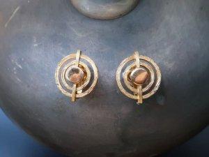 trifari ゴールドのサークルイヤリング(S8271)