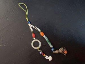 翡翠と象牙のチェーンの飾り (aaa49)