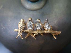 JOAN RIVERS 4羽の小鳥のブローチ(S97)