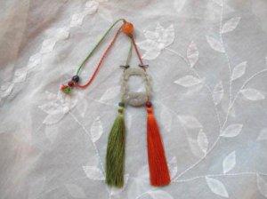 砡 小鳥と蓮の飾り ぶら (G12)