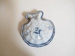エミール・ガレ アンティーク 陶器蓋物 シェル(F595)