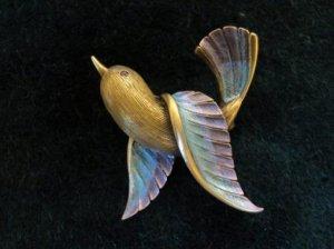 JJ 可愛く飛ぶ鳥ブローチ(S5284)