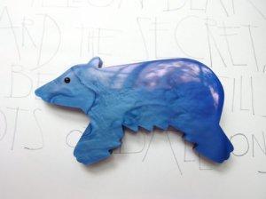 Pavone 青いクマのブローチ(S6960)
