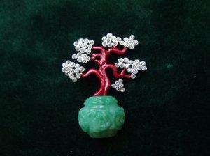 ヴィンテージ ケネスジェイレーン 盆栽のブローチ(S7023)