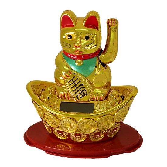 ソーラー金運招き猫