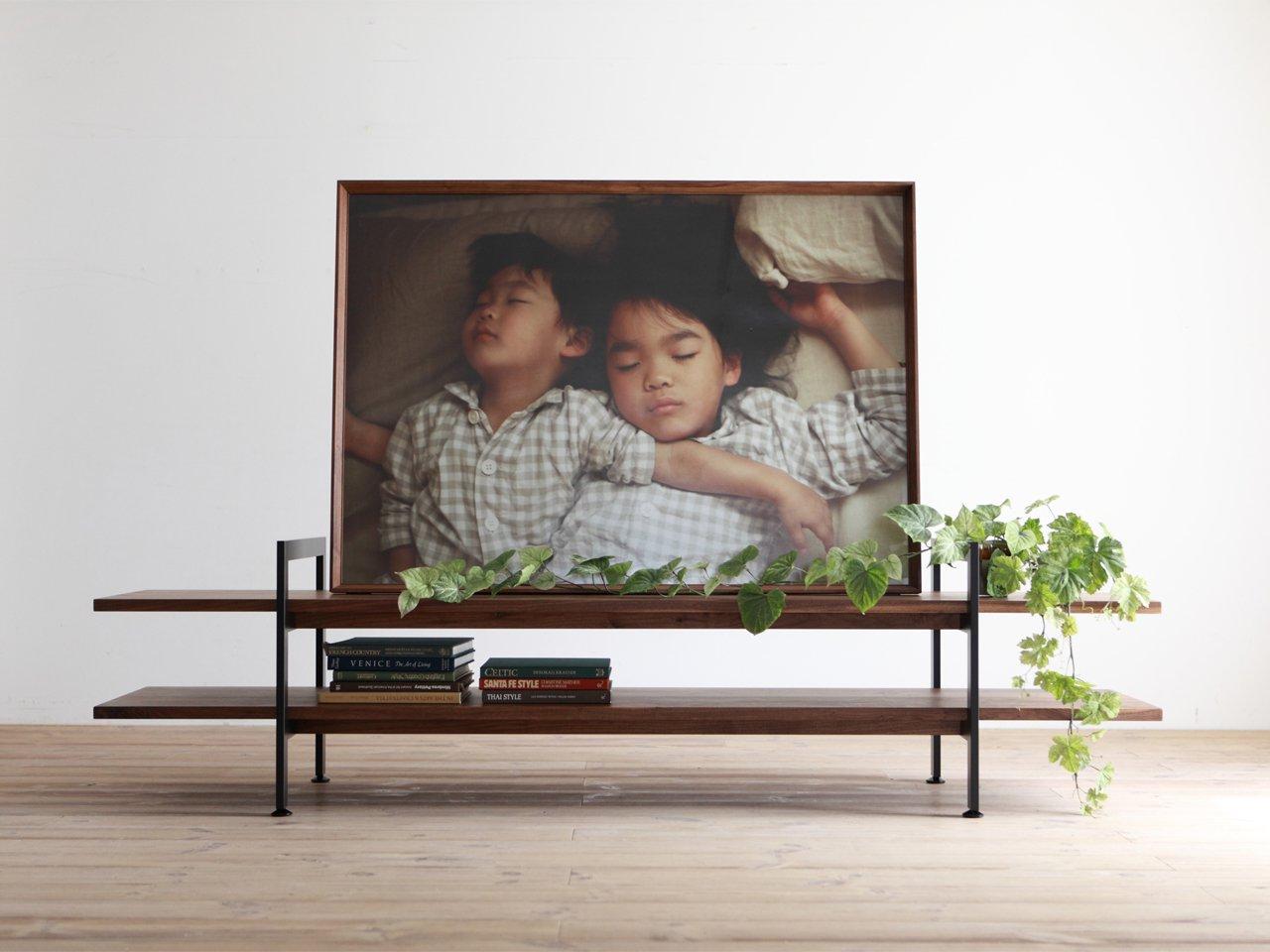テレビボード センターボード ブラック スチール ウォールナット 平松木工
