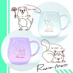 【M4周年グッズ】リモティガラスカップ