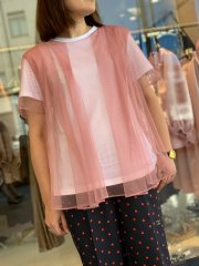 <img class='new_mark_img1' src='https://img.shop-pro.jp/img/new/icons14.gif' style='border:none;display:inline;margin:0px;padding:0px;width:auto;' />Chika Kisada 2021AW  コットンチュールカットソー ピンク
