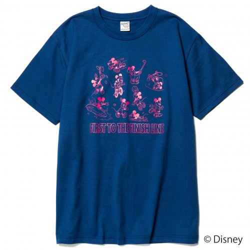 <img class='new_mark_img1' src='https://img.shop-pro.jp/img/new/icons15.gif' style='border:none;display:inline;margin:0px;padding:0px;width:auto;' />CALEE キャリー「DISNEY/Multi player t-shirt Mustard」/Blue