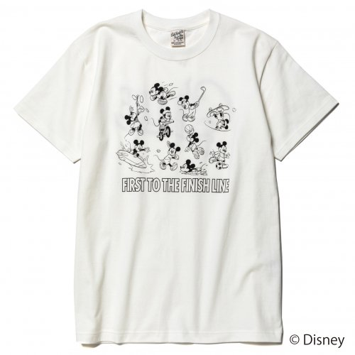 <img class='new_mark_img1' src='https://img.shop-pro.jp/img/new/icons15.gif' style='border:none;display:inline;margin:0px;padding:0px;width:auto;' />CALEE キャリー「DISNEY/Multi player t-shirt Mustard」/White