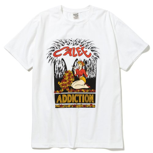 <img class='new_mark_img1' src='https://img.shop-pro.jp/img/new/icons15.gif' style='border:none;display:inline;margin:0px;padding:0px;width:auto;' />CALEE キャリー「Stretch addiction t-shirt」/White