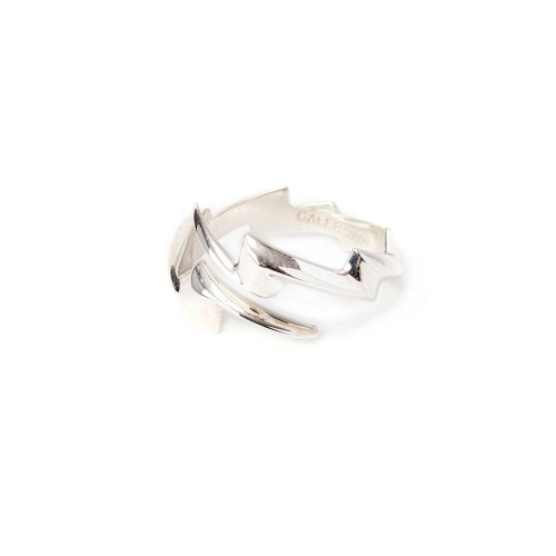 <img class='new_mark_img1' src='https://img.shop-pro.jp/img/new/icons15.gif' style='border:none;display:inline;margin:0px;padding:0px;width:auto;' />CALEEキャリー 「Thunderbolt silver ring」