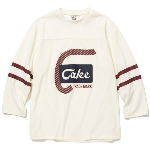 <img class='new_mark_img1' src='https://img.shop-pro.jp/img/new/icons15.gif' style='border:none;display:inline;margin:0px;padding:0px;width:auto;' />CALEE キャリー「8 Length sleeve velour football t-shirt」/White