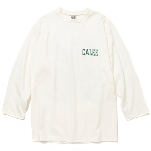 <img class='new_mark_img1' src='https://img.shop-pro.jp/img/new/icons15.gif' style='border:none;display:inline;margin:0px;padding:0px;width:auto;' />CALEE キャリー「8 Length sleeve thunderbolt set in t-shirt」/White