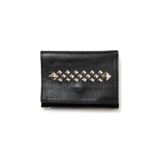 <img class='new_mark_img1' src='https://img.shop-pro.jp/img/new/icons15.gif' style='border:none;display:inline;margin:0px;padding:0px;width:auto;' />CALEEキャリー 「Studs leather mini wallet」
