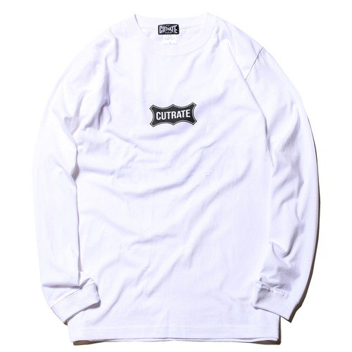 <img class='new_mark_img1' src='https://img.shop-pro.jp/img/new/icons15.gif' style='border:none;display:inline;margin:0px;padding:0px;width:auto;' />CUTRATE カッレイト「BOX LOGO F.O.A.D L/S T-SHIRT」/ WHITE