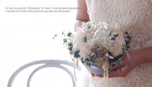 お花のリングピロー<br>ブランシェ