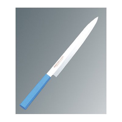 マスターコック 抗菌カラー庖丁(本刃付) 柳刃 MCYK210 ブルー