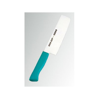 MILD CUT-2000 抗菌カラー庖丁(本刃付) 菜切 MCN グリーン