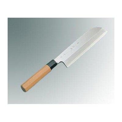 兼松作 銀三鋼 鎌型薄刃 19.5cm