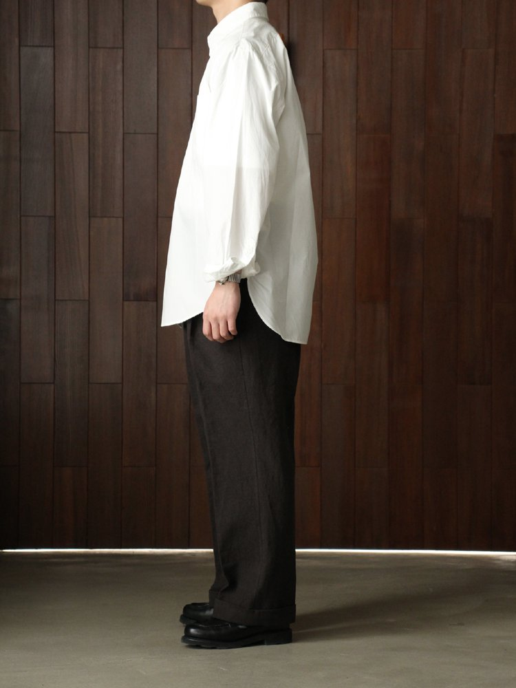 REGULAR COLLAR DRESS SHIRT #OFF WHITE