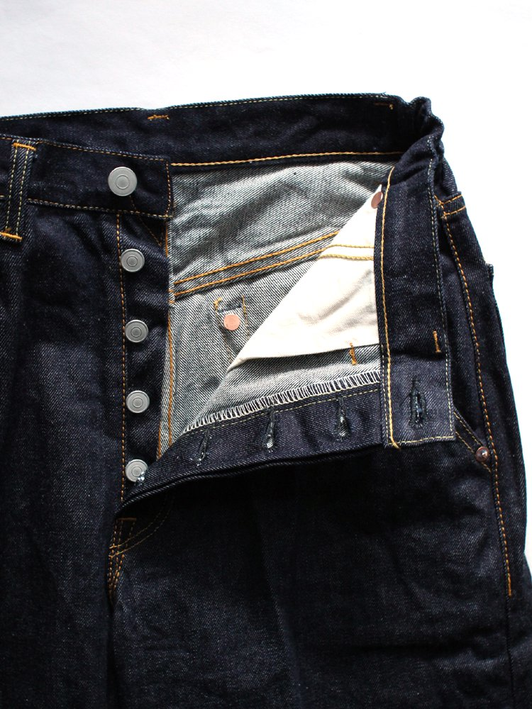 Straight Fit Creased Jeans #Indigo One Wash