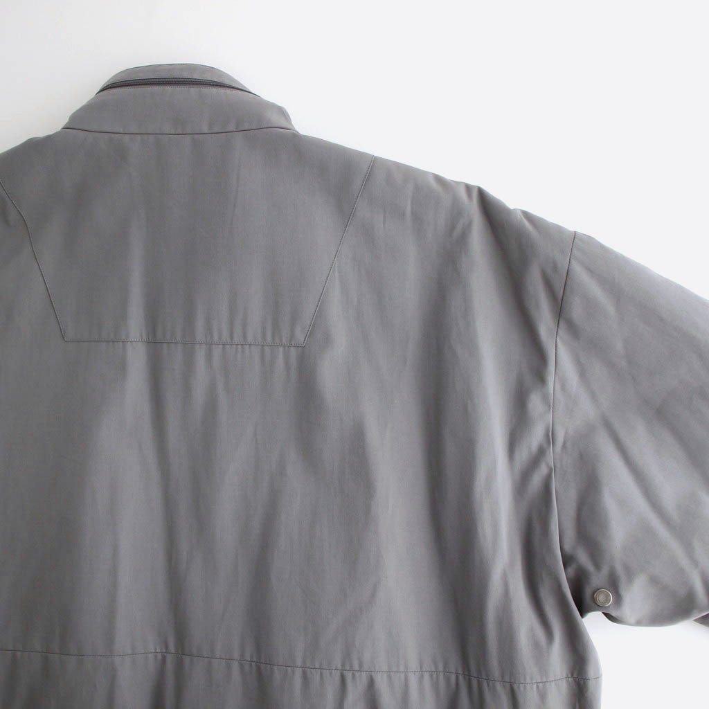 COTTON CREPE INSULATION JACKET #GREY [S50AM0481]