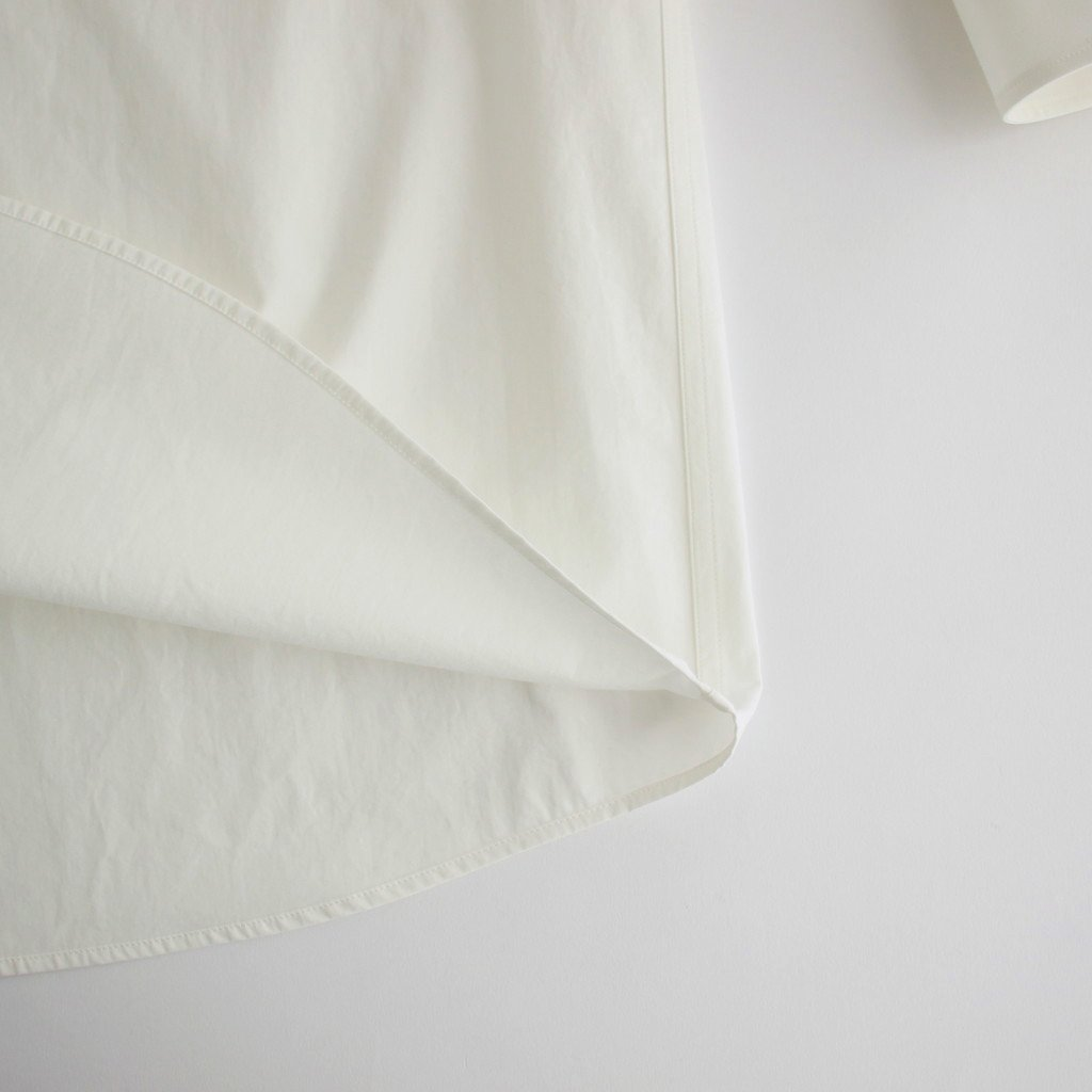 COTTON POPELINE OVER FIT SHIRT #WHITE [S30DL0481]