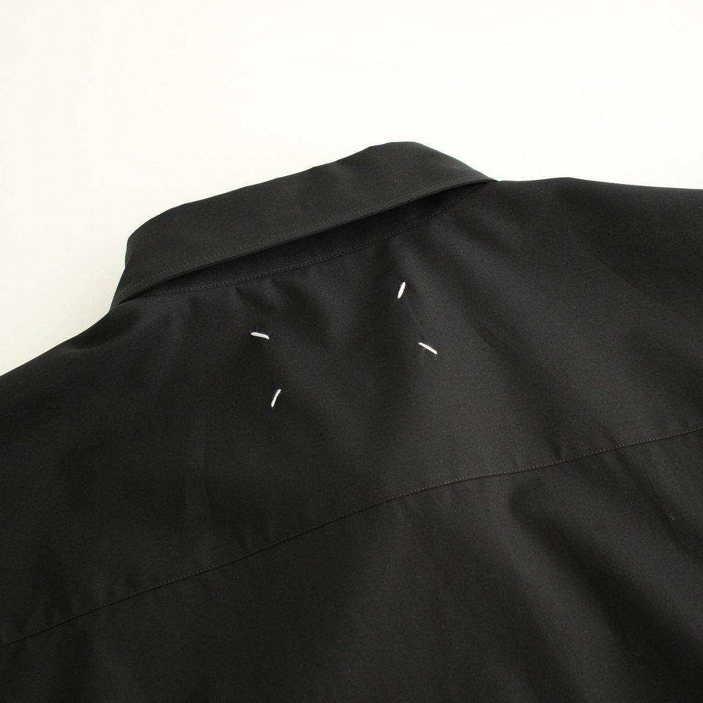 COTTON POPELINE OVER FIT SHIRT #BLACK [S30DL0481]