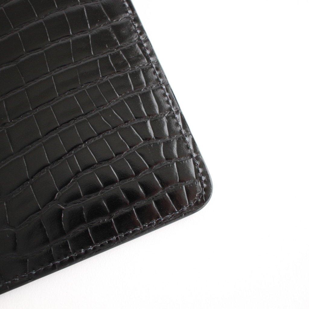 EMBOSSED CROCODILE ZIP POUCHES #BLACK [S55UI0193]