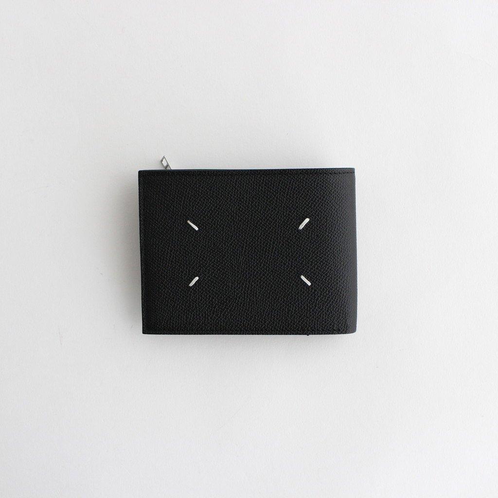 ZIP LEATHER WALLET WIDE #BLACK [S35UI0436]