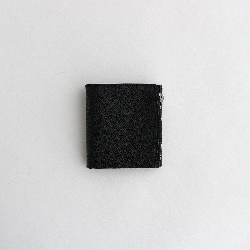 ZIP LEATHER WALLET #BLACK [S35UI0438]