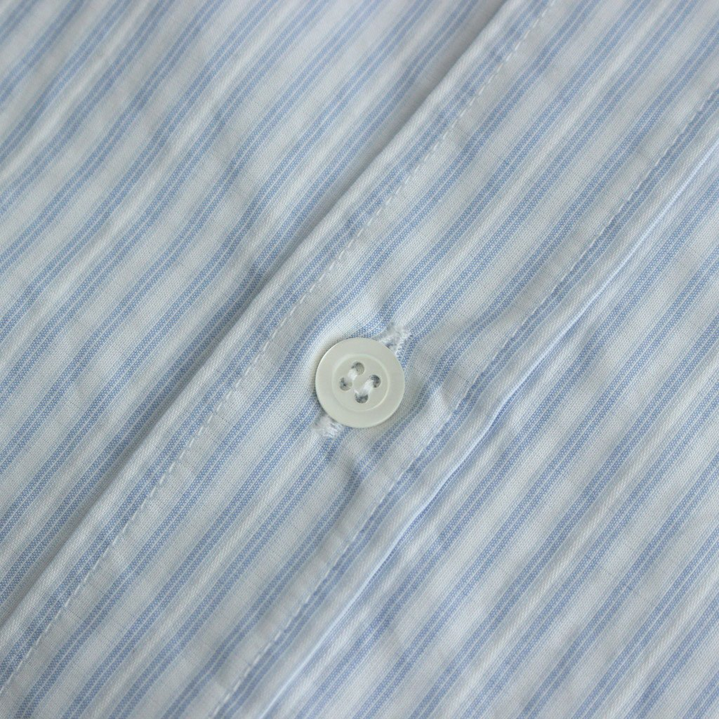 PINSTRIPE COTTON OVER FIT SHIRT #CERULEAN [S50DL0469]