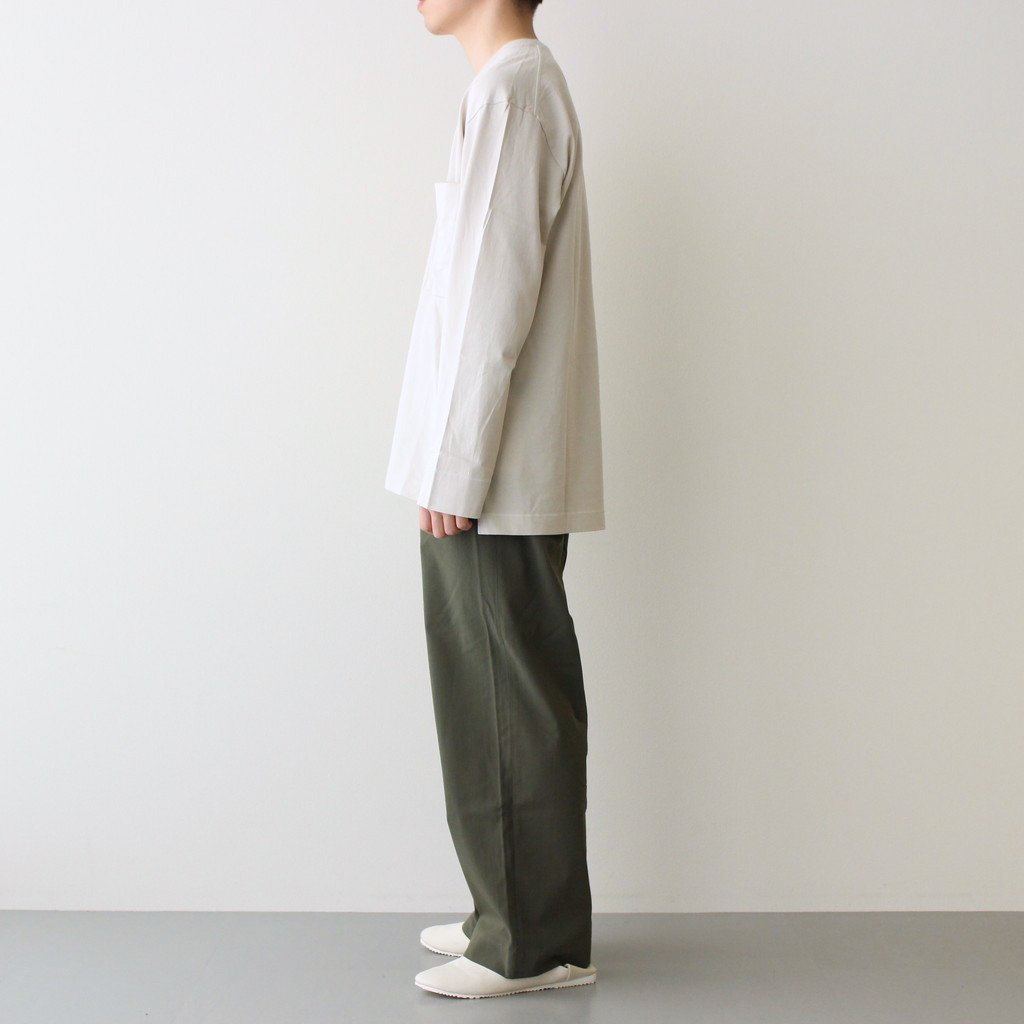 2TUCK STRAIGHT FIT EASY #OLIVE [M21A-07PT01C]