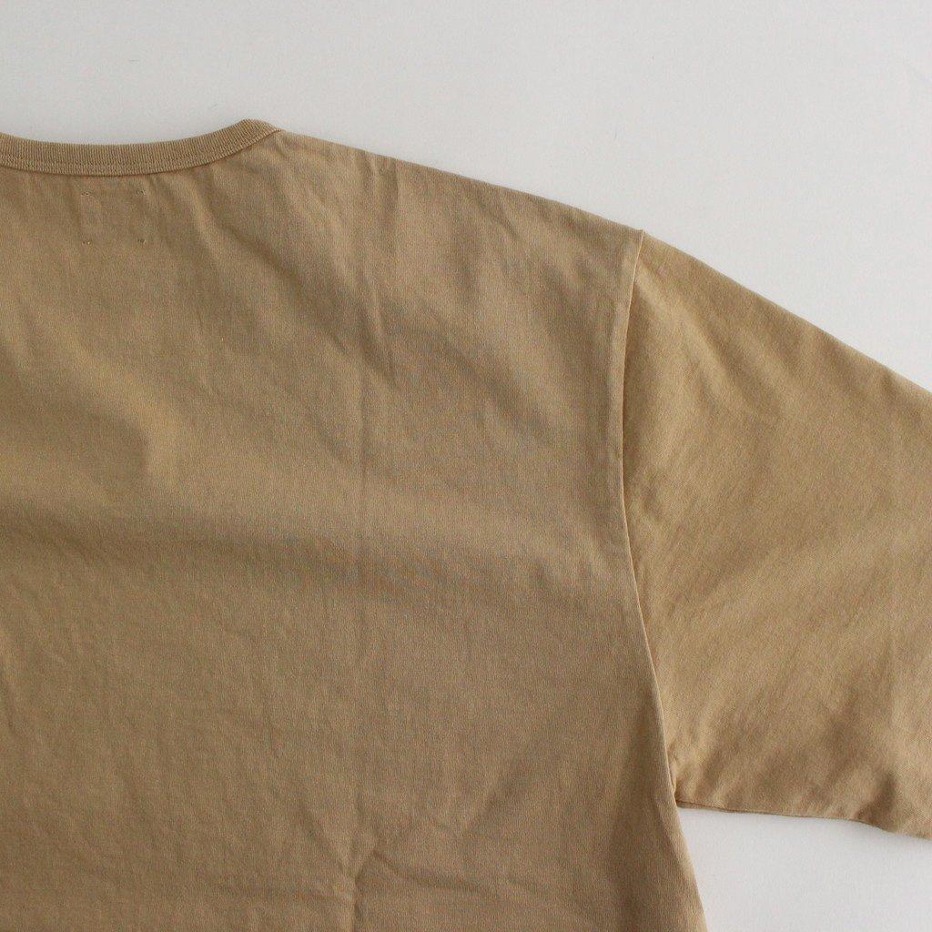 COTTON OPEN-END YARN T-SHIRT #BEIGE [BBZ2011506A0002]