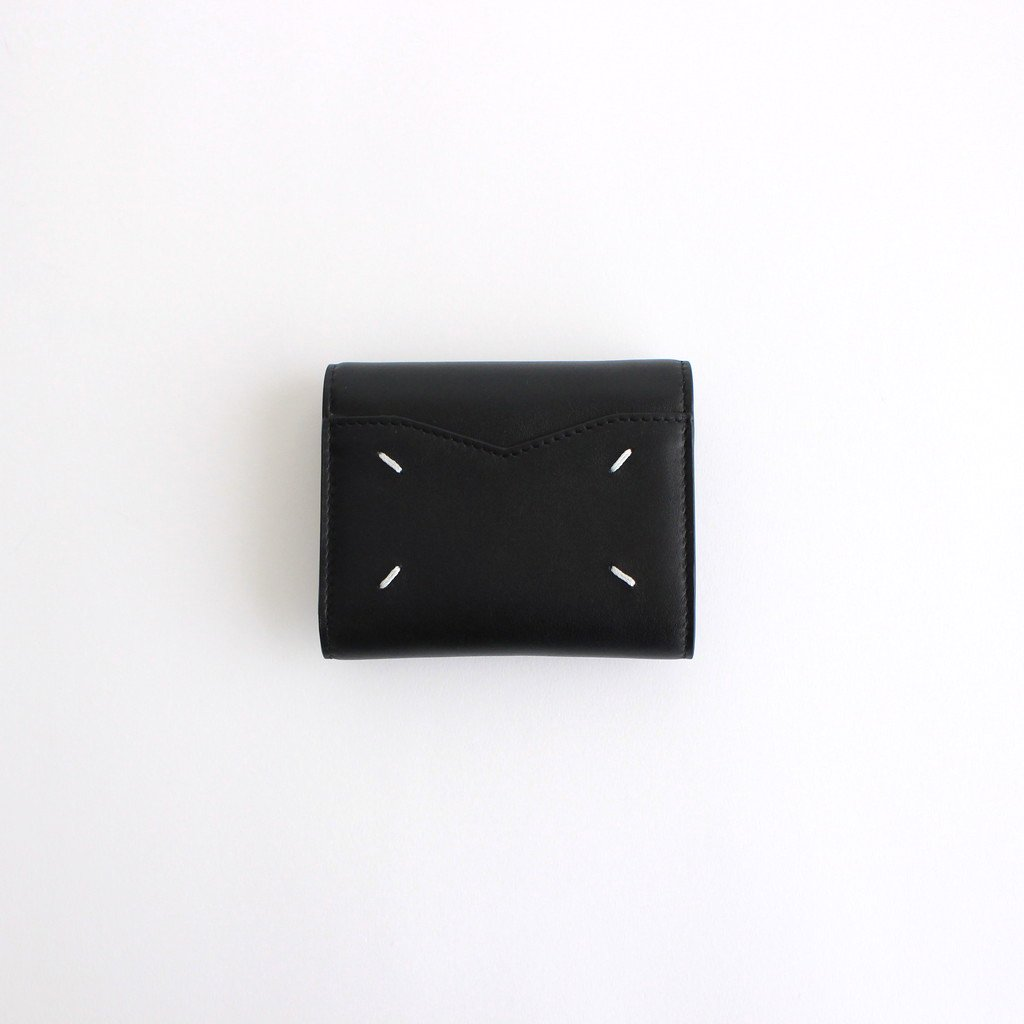 ZIP COMPACT TRI FOLD #BLACK [S56UI0136]