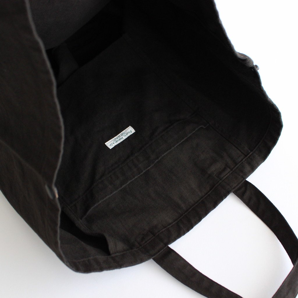 ROUND TOTE BAG #DUST BLACK [PMAL-AC06]