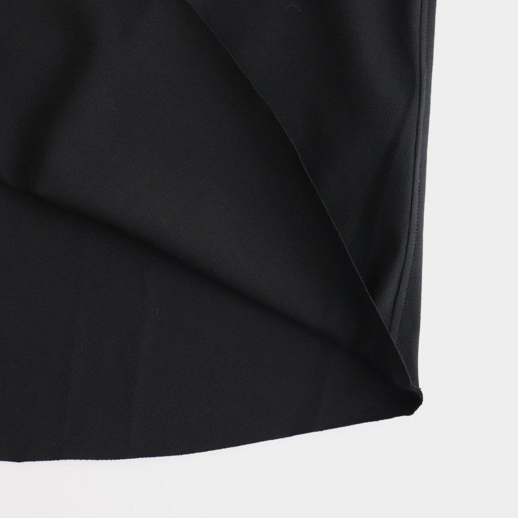 60/- フリーカット強撚ポンチ Tシャツ #BLACK [yc55]