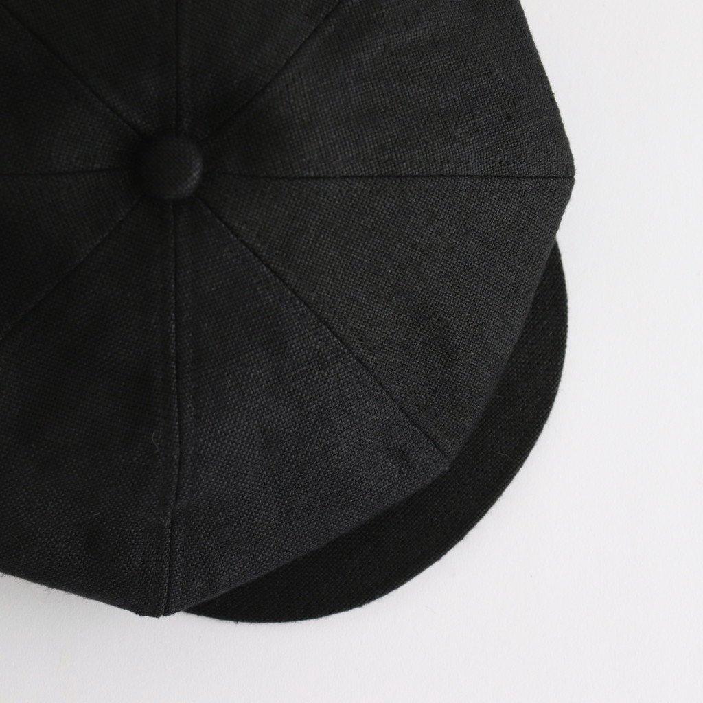 SAFILIN LINEN CASQUETTE  #BLACK [21SS01002]