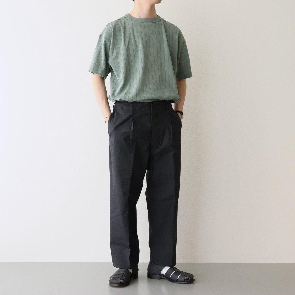 RIB TEE #SAGE GREEN [PMAL-CS04]