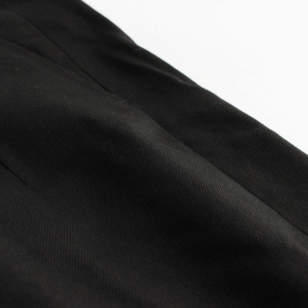 FRONT TUCK ARMY TROUSER #BLACK [212OJ-PT05]