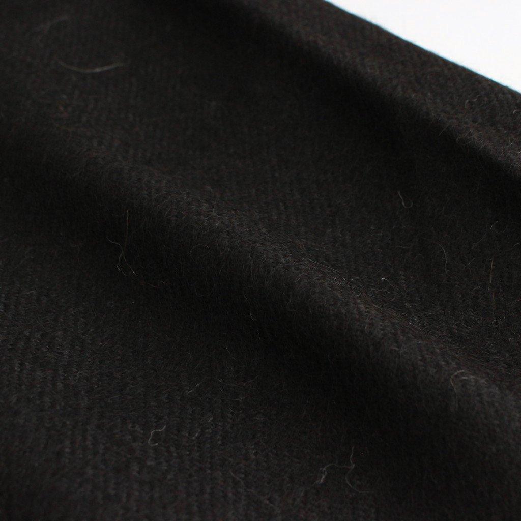 NATURAL COLOR ALPACA STOLE #NATURAL BLACK [A21C-15AC01C]