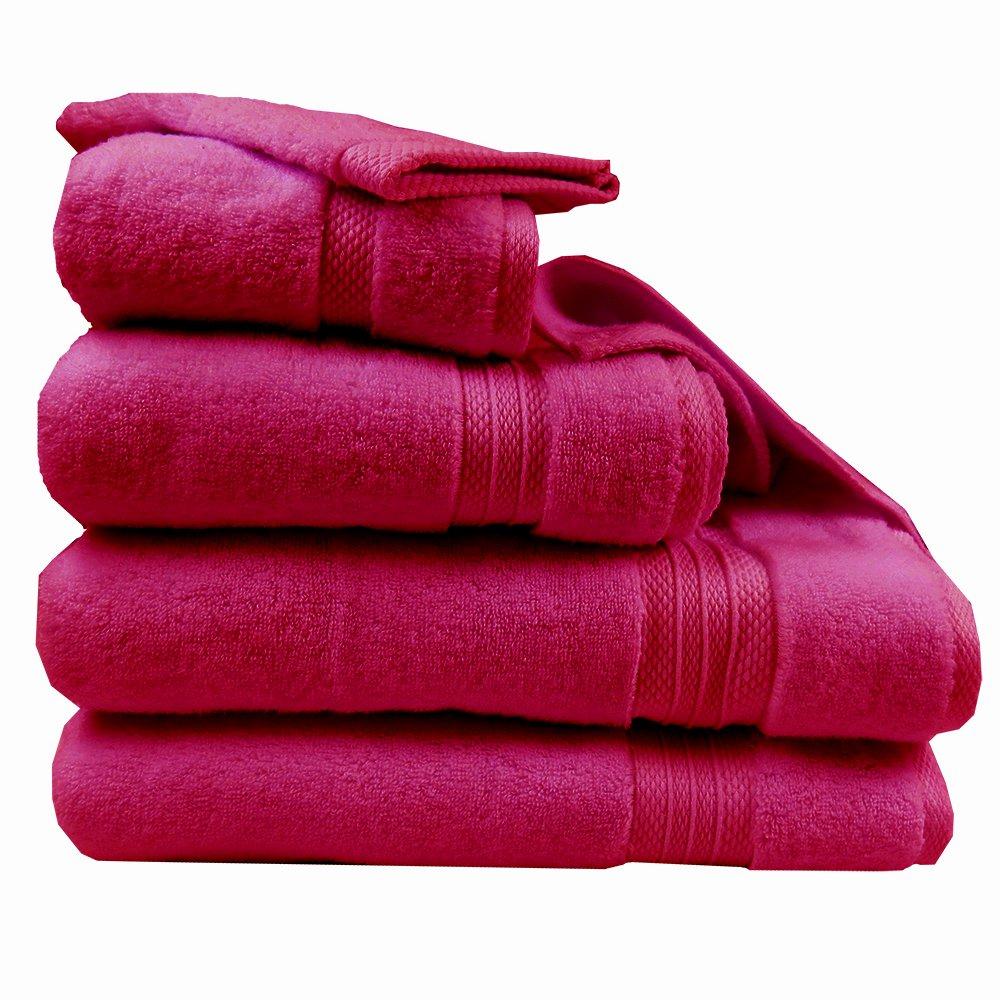 ガルニエティエボー コットンタオル エレア フクシア(赤紫)