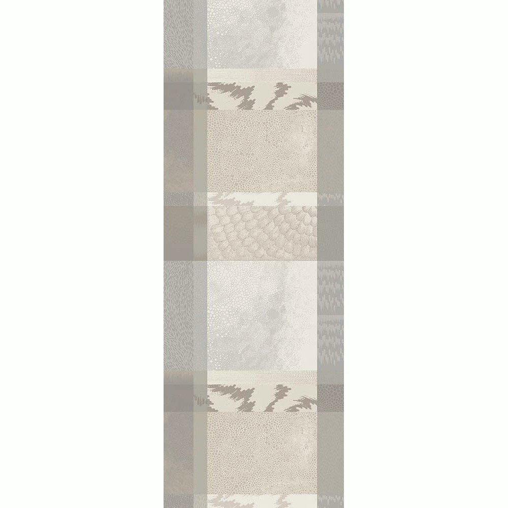 ガルニエティエボー 【撥水コート】テーブルランナー ミルマティエール ライトグレー