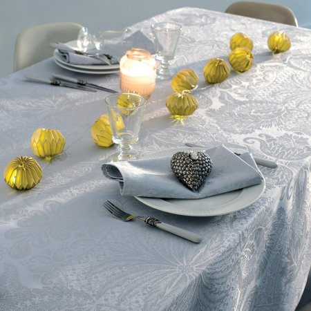 テーブルクロス(撥水なし) ミルイサフィール パステルブルー
