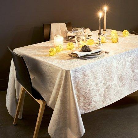 テーブルクロス(撥水なし) ミルイサフィール アイボリー